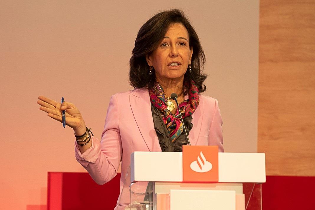 Ana Botín, presidenta de Santander, durante el Santander Investor Day en Londres.