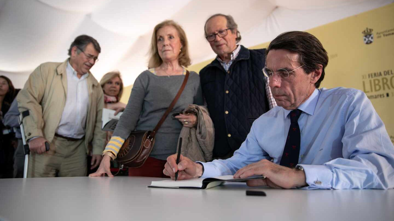José María Aznar en la presentación de su libro 'El futuro es hoy'.
