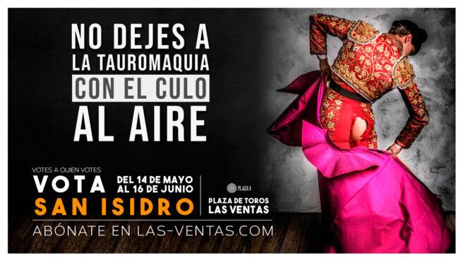 Cartel distribuido por Las Ventas para promocionar las fiestas de San Isidro