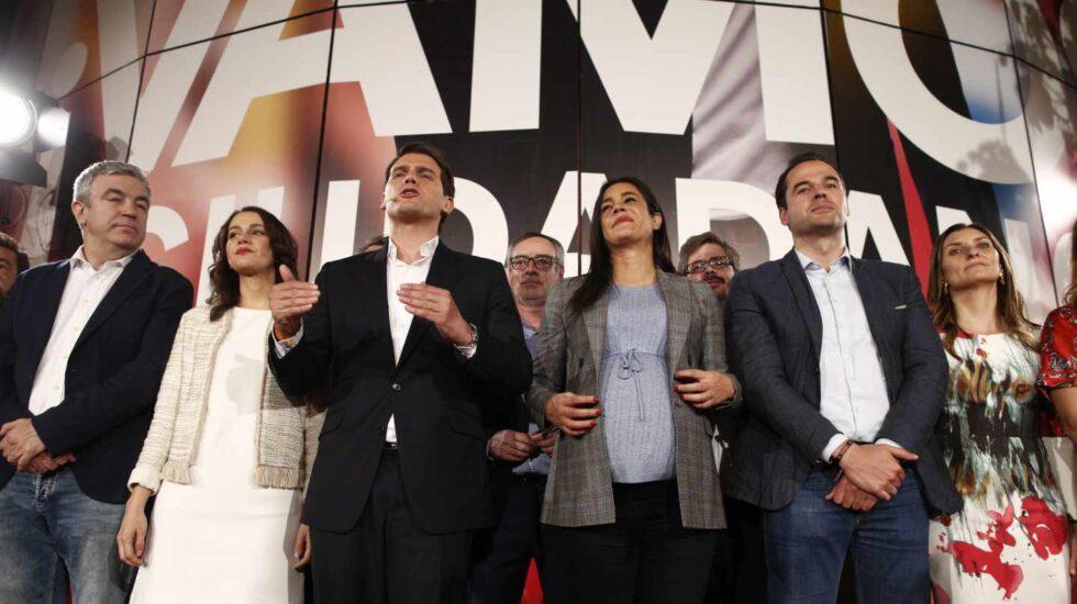 Albert Rivera, en la noche electoral.