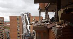 Edificio de Puente de Vallecas tras sufrir la explosión.
