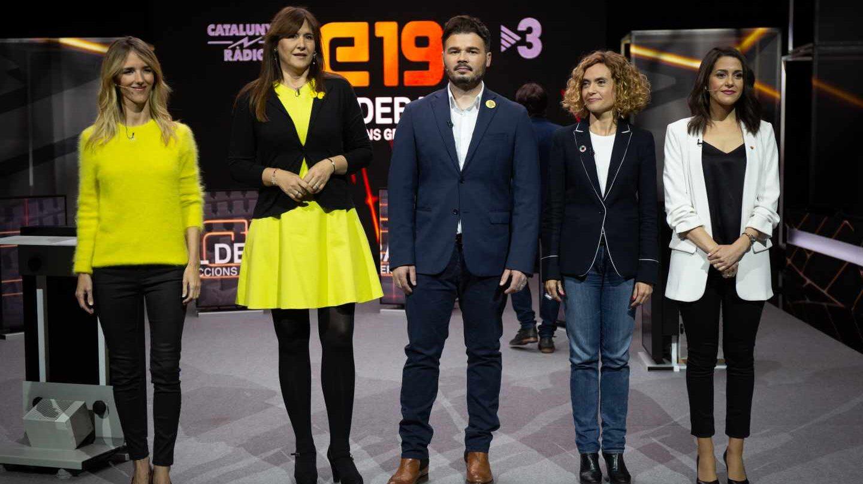 Debate con Alvarez de Toledo, Borrás, Rufián, Batet y Arrimadas.