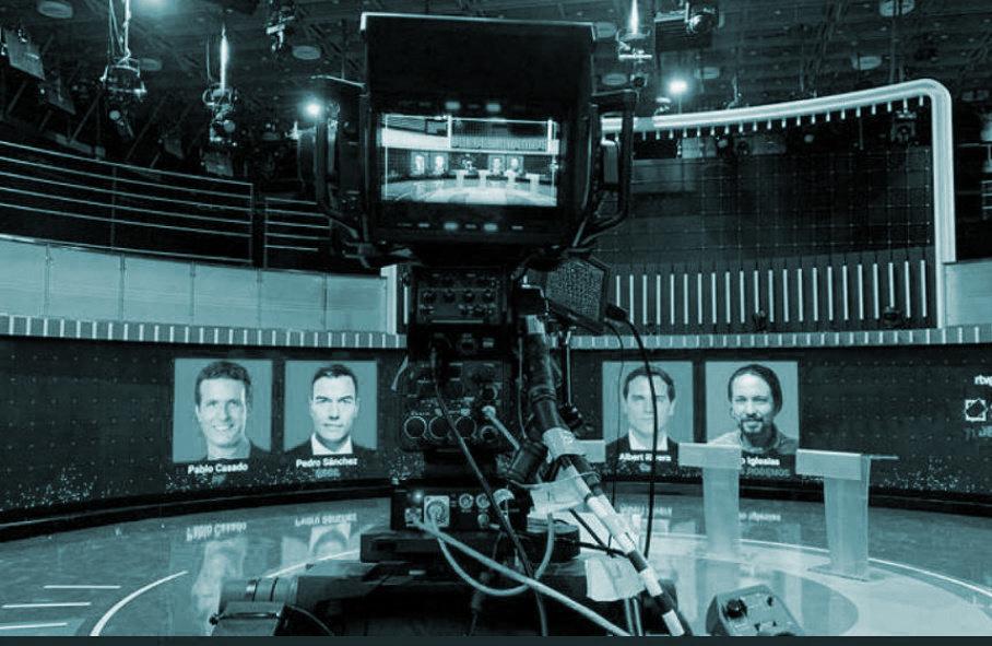 Preparativos del debate en RTVE.