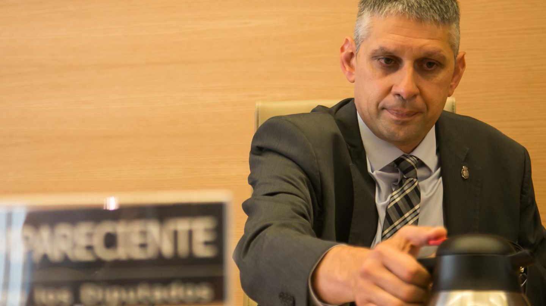 José Ángel Fuentes Gago, durante su comparecencia en la comisión de investigación parlamentaria sobre el uso partidista de la policía por parte del PP.