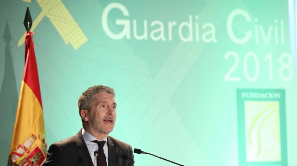 El ministro del Interior, Fernando Grande-Marlaska, en un acto de la Guardia Civil.