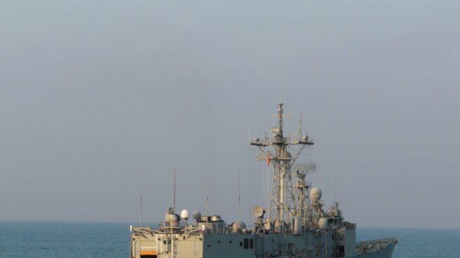 La fragata 'Navarra' del Ejército español.