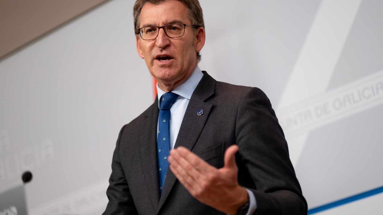 El presidente de la Xunta y del Partido Popular gallego, Alberto Núñez Feijóo