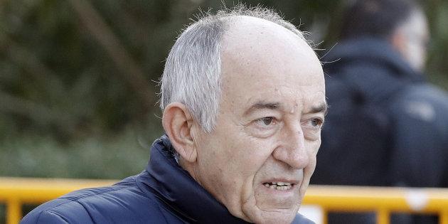 El ex gobernador del Banco de España Miguel Ángel Fernández Ordóñez, a su llegada a la Audiencia Nacional.