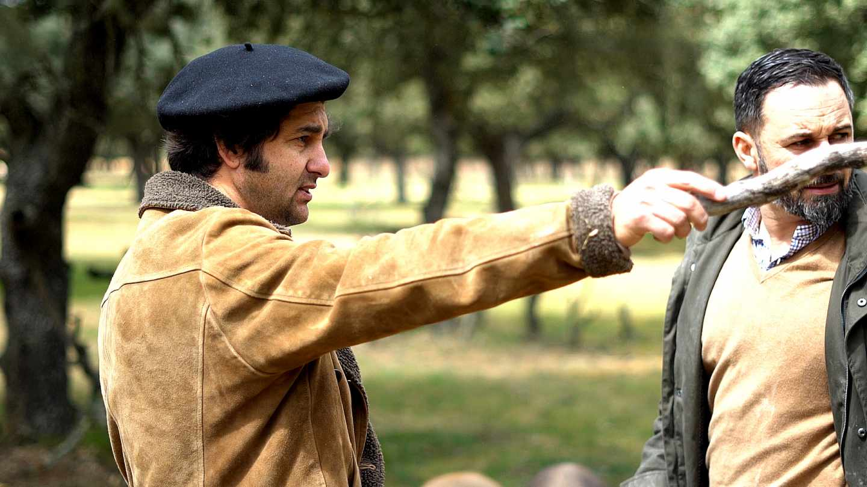 Morante de La Puebla habla con Santiago Abascal sobre los toros de lidia