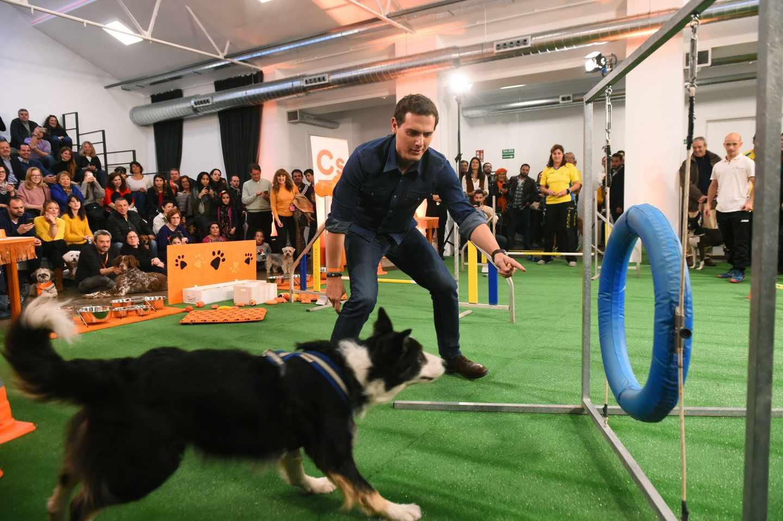 El presidente de Ciudadanos y candidato a la presidencia del Gobierno, Albert Rivera, participa en un encuentro sobre bienestar animal, este viernes en Madrid.