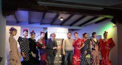 Los diseñadores Victorio y Lucchino, presentando su última colección de trajes de flamenca.