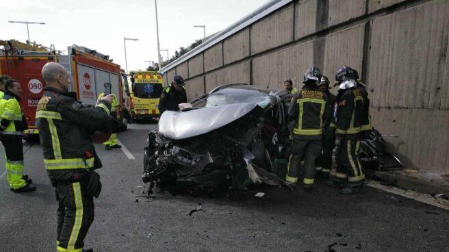 Accidente en Barcelona.