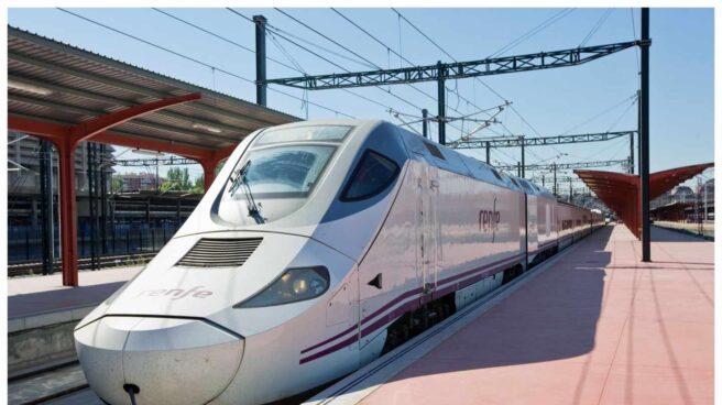 Tren Alvia estacionado.