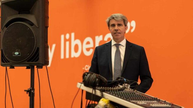 El expresidente de Madrid, Ángel Garrido, en la sede de Ciudadanos