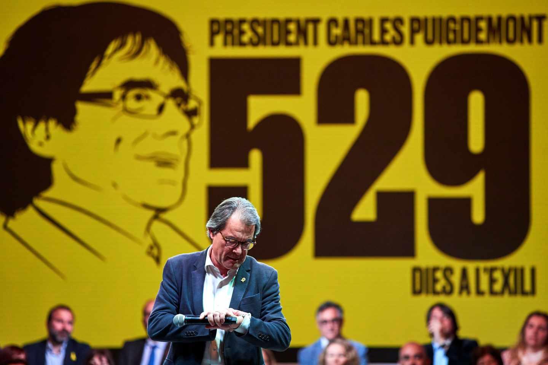 Artur Mas, en el arranque de campaña de Junts per Catalunya.