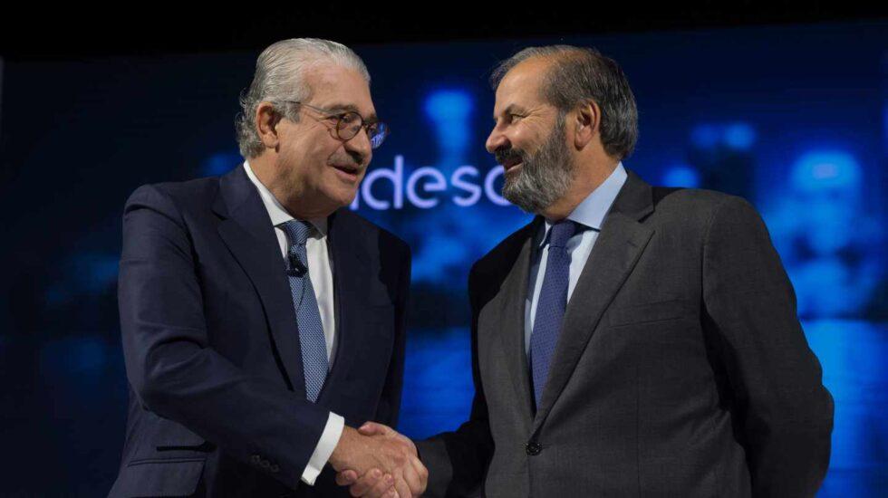 El consejero delegado de Endesa, José Bogas, y su presidente, Juan Sánchez-Calero.