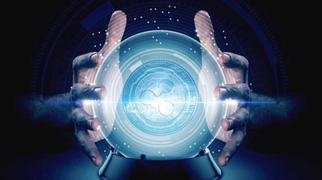 Bola de cristal futurista