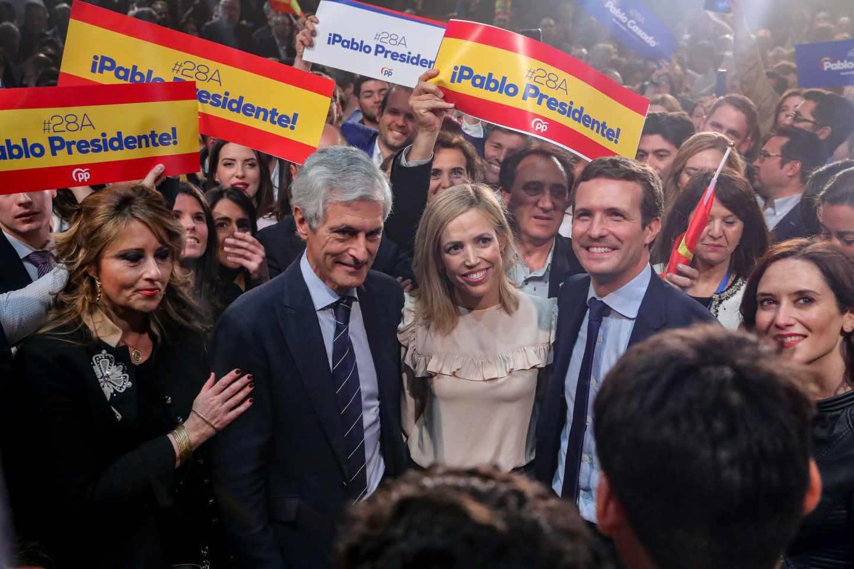 Pablo Casado, en el arranque de la campaña electoral.