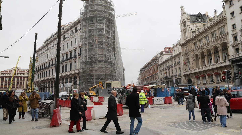 Obras en la zona de Canalejas el pasado mes de diciembre.
