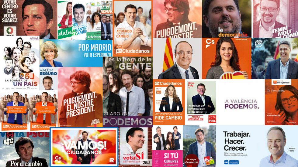 Carteles en campaña electoral