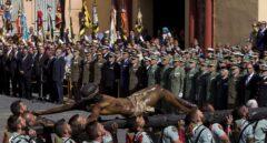 Traslado del Cristo de la Buena Muerte, en Málaga.