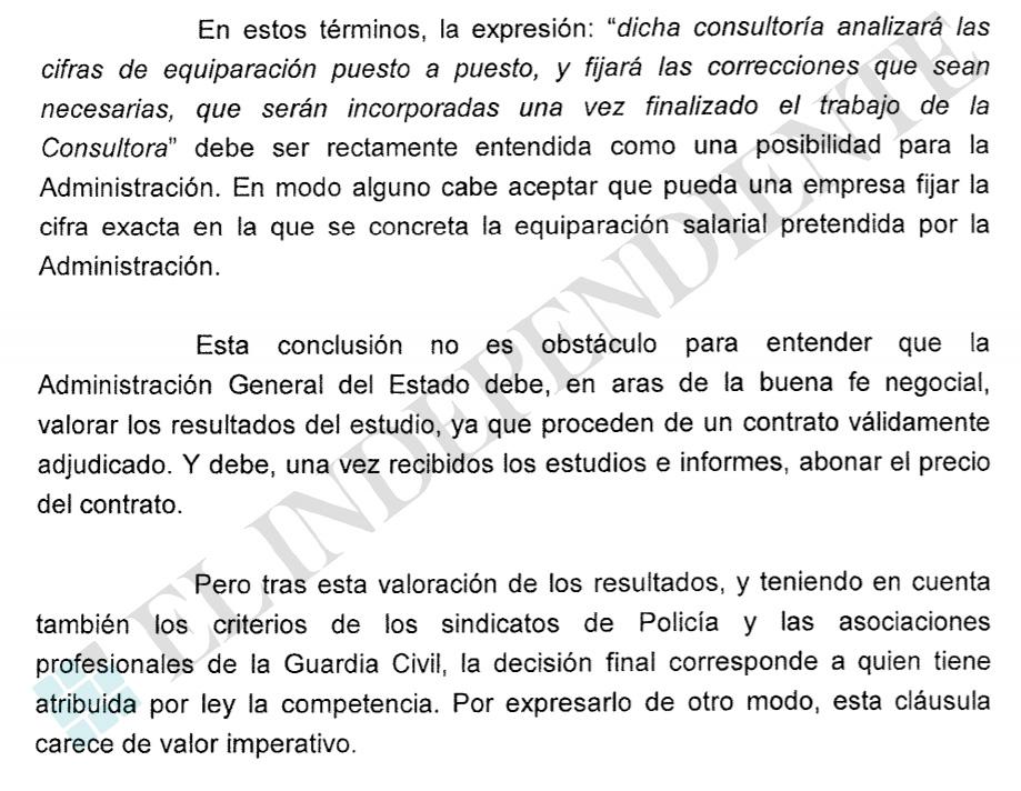 Extracto del dictamen del Consejo de Estado a solicitud del Ministerio del Interior.