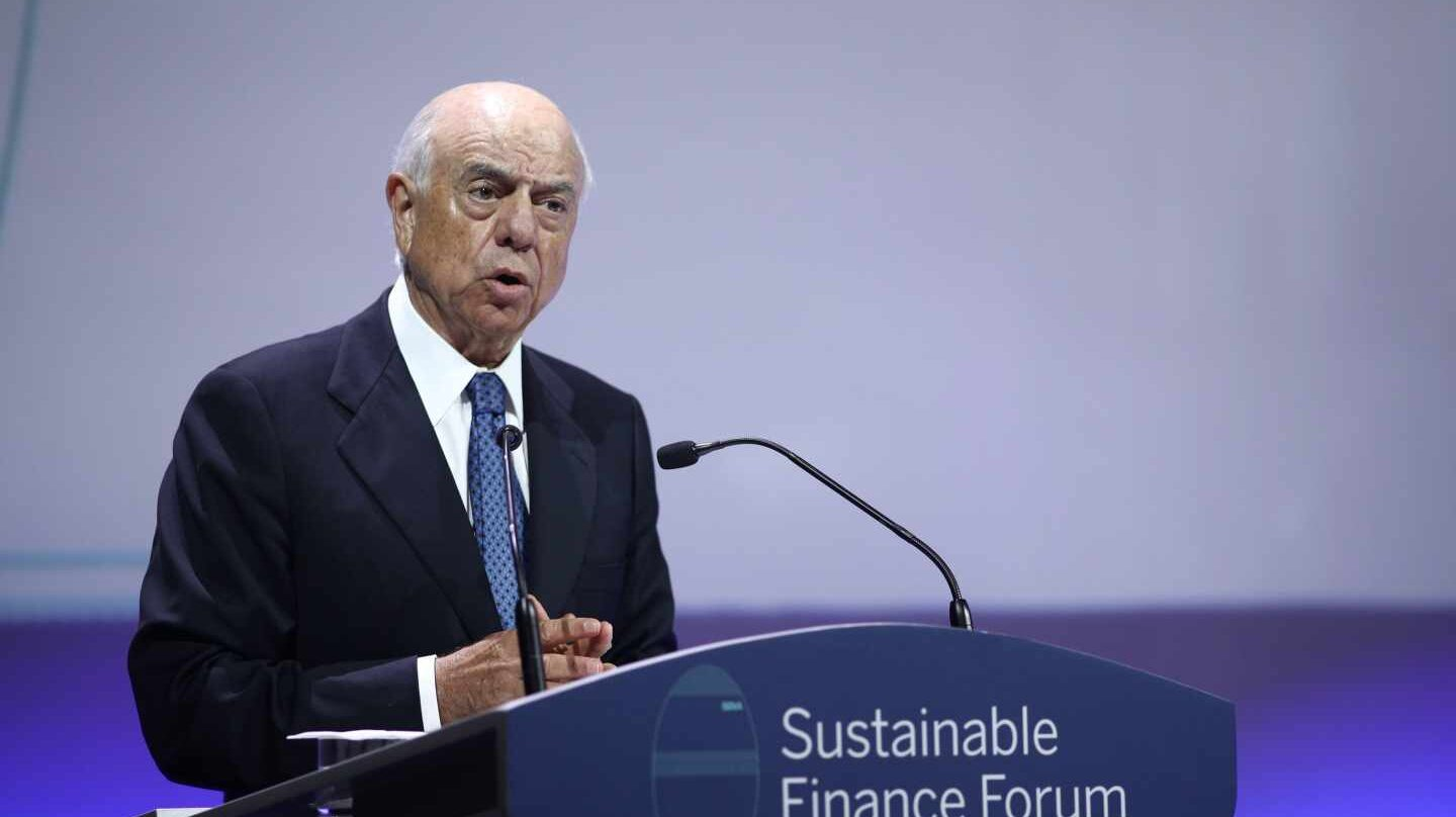 Francisco González, expresidente de BBVA, en la Conferencia BBVA Sustainable Finance Forum, en 2018.