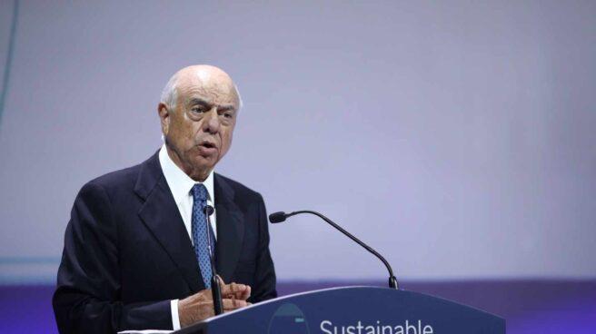 Francisco González, expresidente de BBVA, en la Conferencia BBVA Sustainable Finance Forum, en 2018.