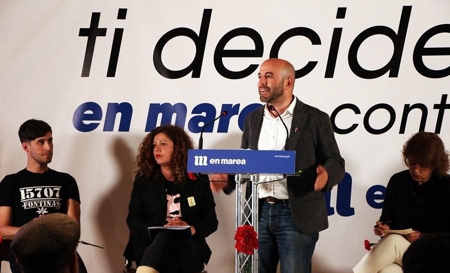 Luis Villares, durante su intervención.