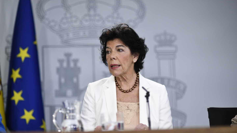 La ministra portavoz del Gobierno, Isabel Celaá.