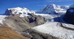 Glaciar Gorner, en los Alpes, en 2017