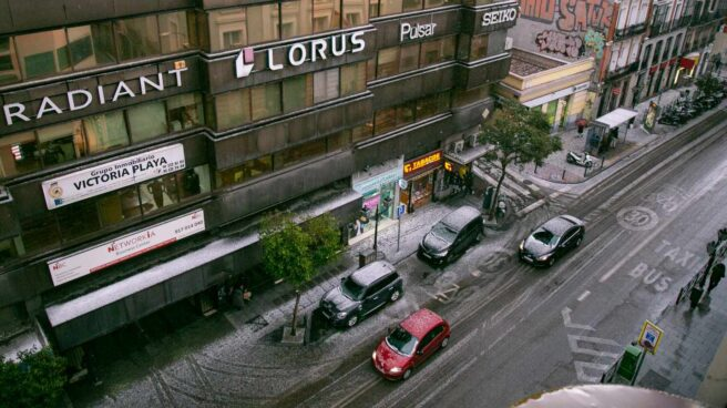 Fuerte granizada en Madrid durante la tarde del viernes