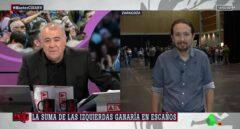 Antonio Ferreras y Pablo Iglesias, en 'Al Rojo Vivo'.