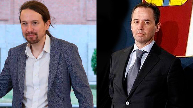 El líder de Podemos, Pablo Iglesias, y el hoy comisario Andrés Gómez Gordo.
