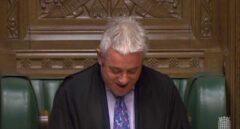 El speaker del Parlamento británico, John Bercow, durante una sesión de los comunes.