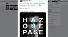 El PP da la vuelta al lema del PSOE.