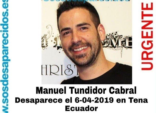 Manuel Tundidor Cabral, desaparecido en Ecuador.