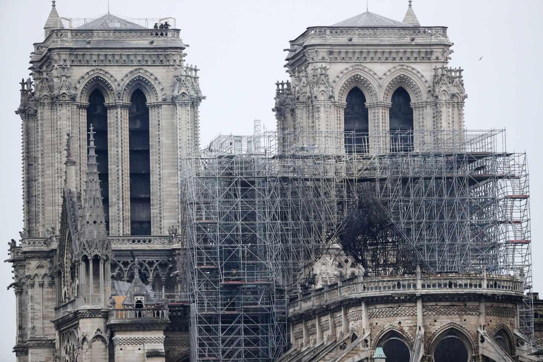 Así ha quedado el interior de Notre Dame después del incendio