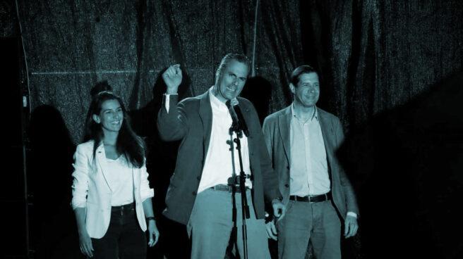 Javier Ortega Smith, en la noche electoral del 28-A.