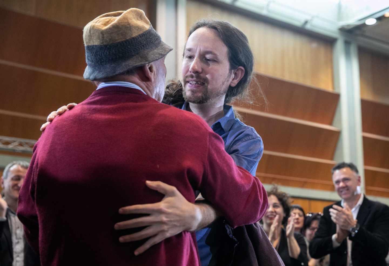 Pablo Iglesias, durante un acto en Zaragoza.