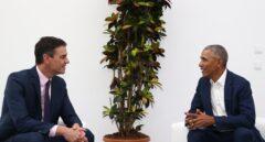Pedro Sánchez y Barack Obama, en Sevilla.