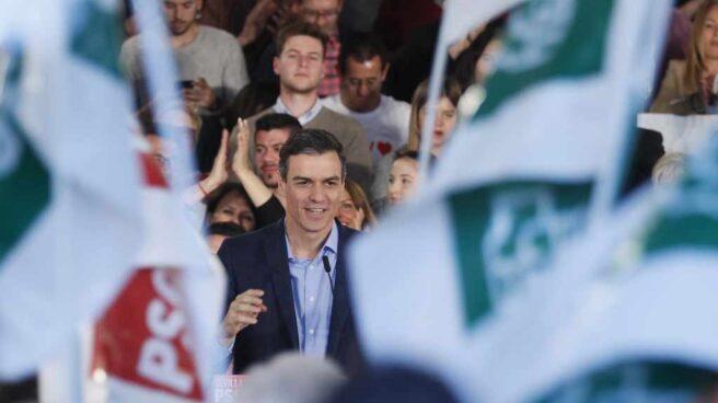 Pedro Sánchez inicia su campaña electoral en Dos Hermanas.