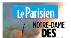 """""""Nuestro Drama"""": las portadas de la prensa francesa sobre el incendio de Notre-Dame"""