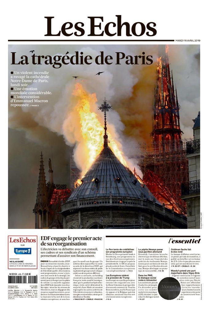 """Les Echos: """"La tragedia de París"""""""