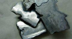 Recreación artística de potasio líquido y sólido a la vez