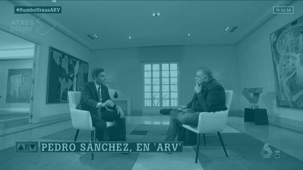 Pedro Sánchez y Antonio García Ferreras.