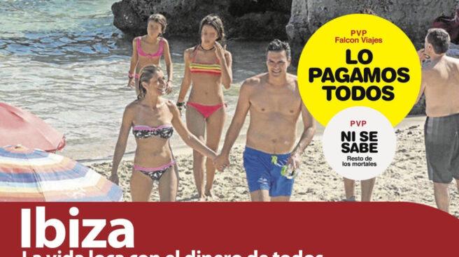 Pedro Sánchez y su familia en Ibiza.