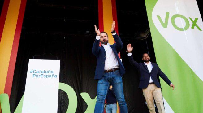 Santiago Abascal, en el acto de Vox en Barcelona.