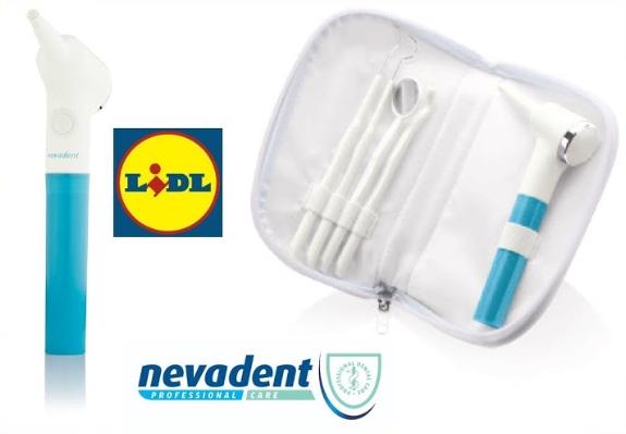 Set de pulido dental Nevadent, a la venta en Lidl, denunciado por los dentistas de Madrid.