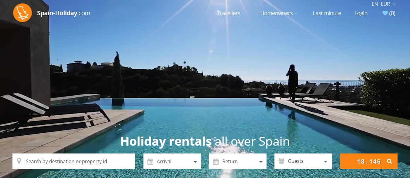 El portal de alquiler turístico Spain-Holiday.com.